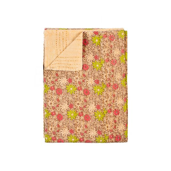 Natural by Lifestyle Brands Kantha 50-in x70-in 297 Cotton Vintage Handmade Throw