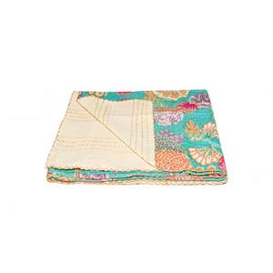 Natural by Lifestyle Brands Kantha 50-in x70-in 298 Cotton Vintage Handmade Throw