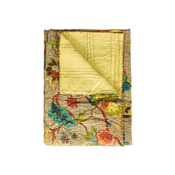 Natural by Lifestyle Brands Kantha 50-in x70-in 318 Cotton Vintage Handmade Throw
