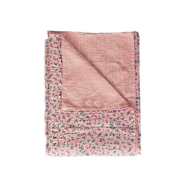 Natural by Lifestyle Brands Kantha 50-in x70-in 312 Cotton Vintage Handmade Throw