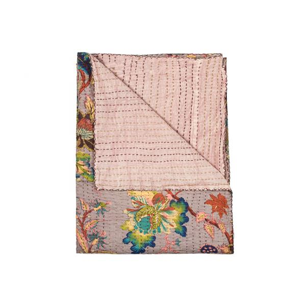 Natural by Lifestyle Brands Kantha 50-in x70-in 311 Cotton Vintage Handmade Throw