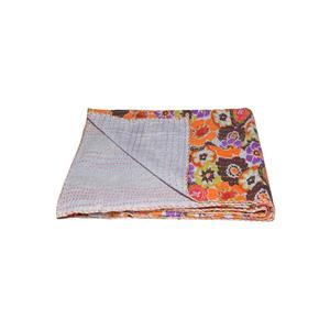 Natural by Lifestyle Brands Kantha 50-in x70-in 327 Cotton Vintage Handmade Throw
