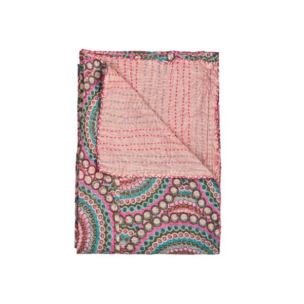 Natural by Lifestyle Brands Kantha 50-in x70-in 328 Cotton Vintage Handmade Throw