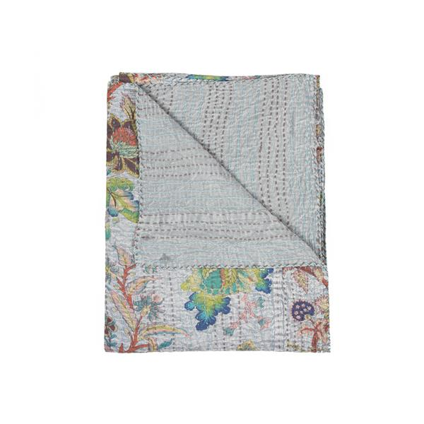 Natural by Lifestyle Brands Kantha 50-in x70-in 333 Cotton Vintage Handmade Throw