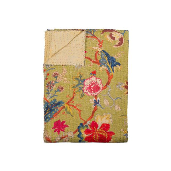 Natural by Lifestyle Brands Kantha 50-in x70-in 331 Cotton Vintage Handmade Throw