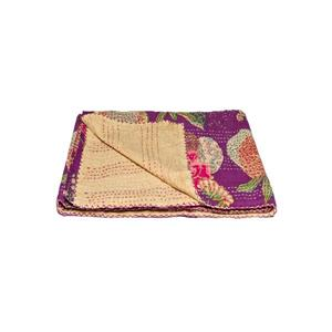 Natural by Lifestyle Brands Kantha 50-in x70-in 325 Cotton Vintage Handmade Throw
