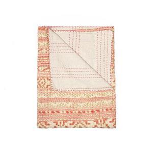 Kantha 50-in x70-in 324 Cotton Vintage Handmade Throw