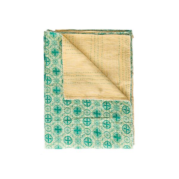 Natural by Lifestyle Brands Kantha 50-in x70-in 319 Cotton Vintage Handmade Throw