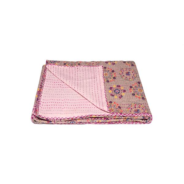 Natural by Lifestyle Brands Kantha 50-in x 70-in 507-40 Cotton Vintage Handmade Throw