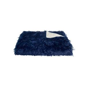 LUXE Modern Traditional 50-in x 70-in Ink Mongolian Sheepskin Faux Fur Throw