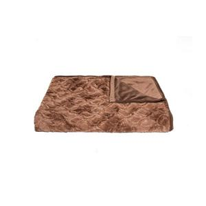 Modern Traditional 50-in x 70-in Brown Mink Faux Fur Throw