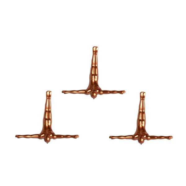 Natural by Lifestyle Brands Wall Divers 6.50-in x 2.50-in 3 Pack in Bronze