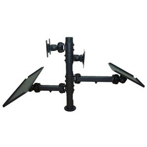 TygerClaw 10-in to 24-in Black 2 Monitor Desk Mount