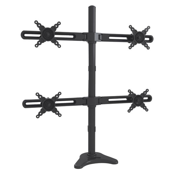 TygerClaw 10-in to 24-in Black 4 Monitor Desk Mount