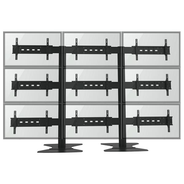 TygerClaw 30-in to 60-in Black 9 Flat Panel TV Wall Stand