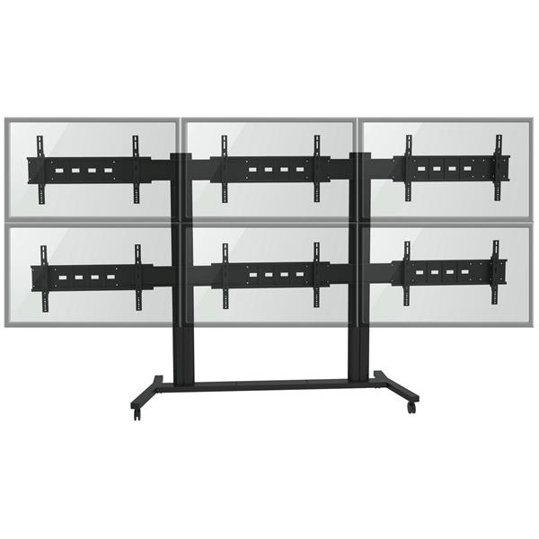TygerClaw 30-60-in Black 6 Flat Panel TV Wall Stand