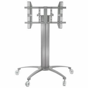 TygerClaw 32-in to 52-in Silver Flat Panel Mobile TV Stand