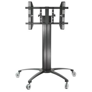 TygerClaw 32-in to 52-in Black Flat Panel Mobile TV Stand