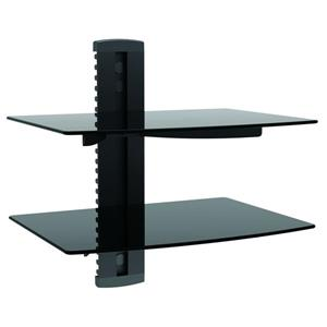 TygerClaw 15-in Black GlassAV Component Double Shelf