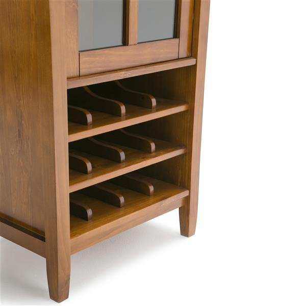 Simpli Home Warm Shaker High Storage Wine Rack - 22.5-in x 16-in x 50-in - Brown