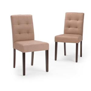 Simpli Home Andover Beige 18.6-in Dining Chairs (Set of 2)