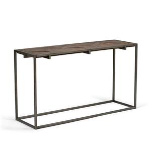 "Table console Avery, 29,9"", brun"