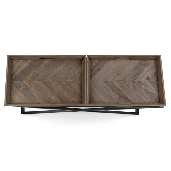 Simpli Home Damien 29.9-in Brown Console Table