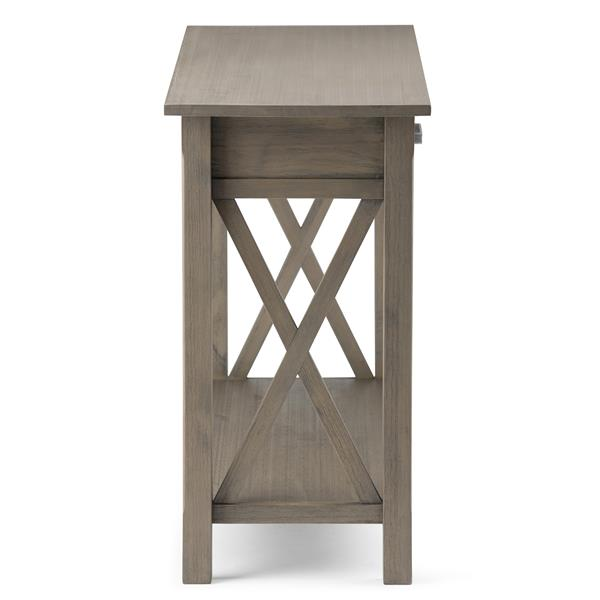 "Table console pour salon Kitchener, 28,9"", gris"