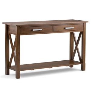 "Table console pour salon Kitchener, 28,9"", brun"