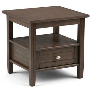 "Table d'appoint Warm Shaker, 20,1"" x 18,1"" x 19,7"", brun"