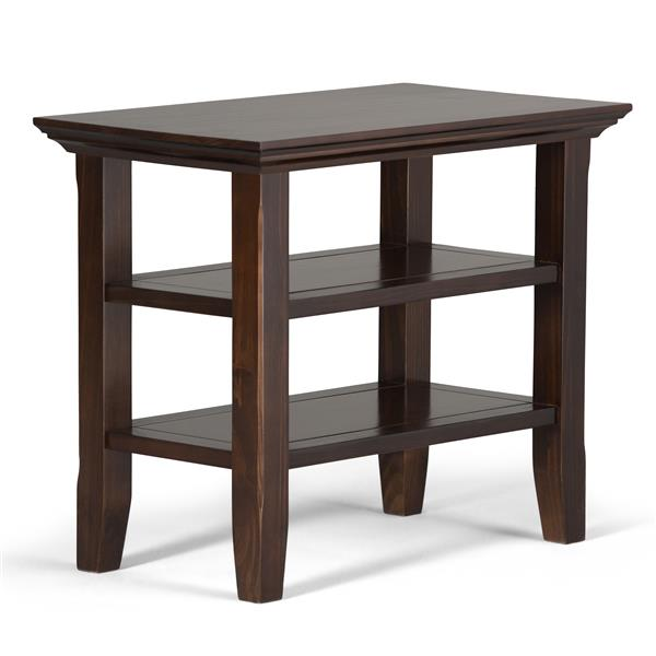 "Table d'appoint Acadian, 14"" x 24"" x 20,1"", brun"