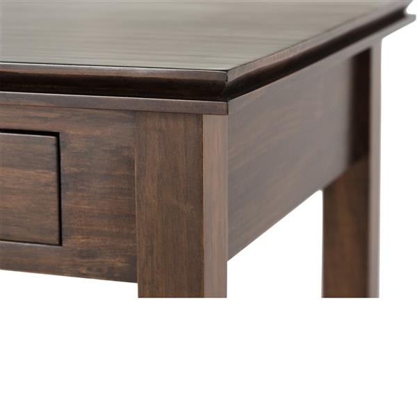 Simpli Home Artisan 20.5-in x 20.5-in x 20.1-in Brown Square End Table