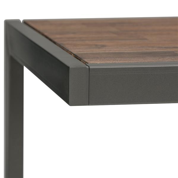 Simpli Home Erina 24-in x 22-in x 22-in Brown Square End Table