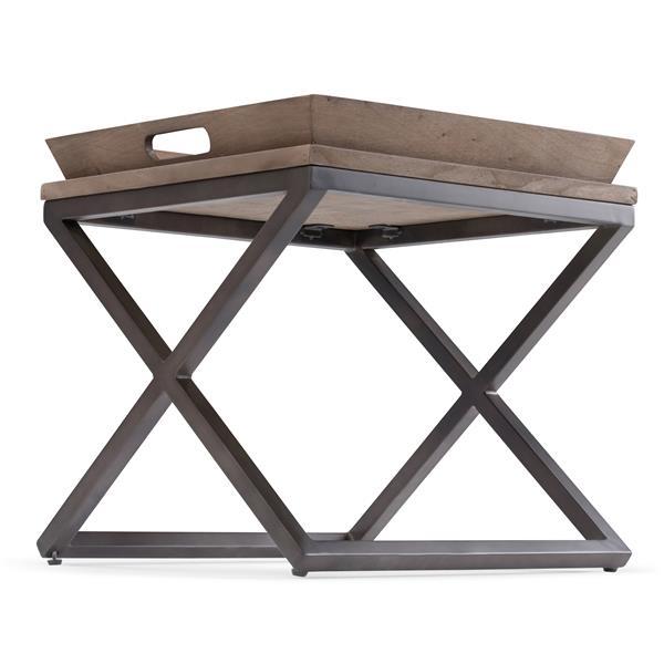 """Table d'appoint Damien, carré, 20,1"""" x 20,1"""" x 20,1"""", brun"""