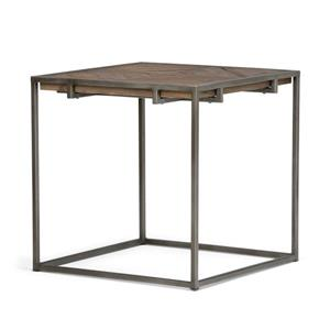 Simpli Home Avery 20-in x 20-in x 20-in Brown Square End Table