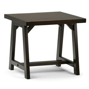 "Table d'appoint Sawhorse, carré, 22"" x 22"" x 20"", brun"