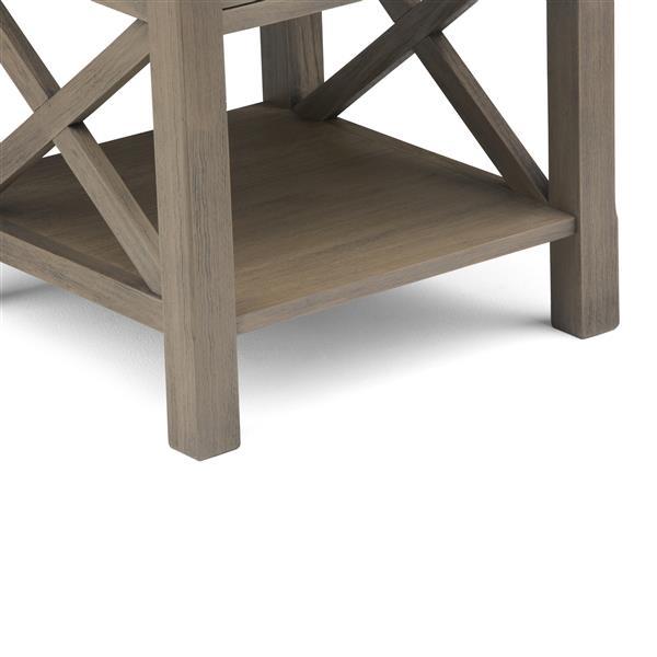 """Table d'appoint Kitchener, carré, 20,5"""" x 20,5"""" x 20"""", gris"""