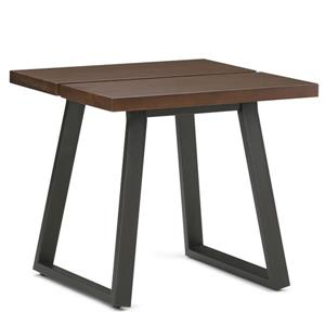 Simpli Home Adler 24-in x 24-in x 22-in Brown Square End Table