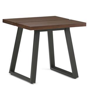 "Table d'appoint Adler, carré, 24"" x 24"" x 22"", brun"