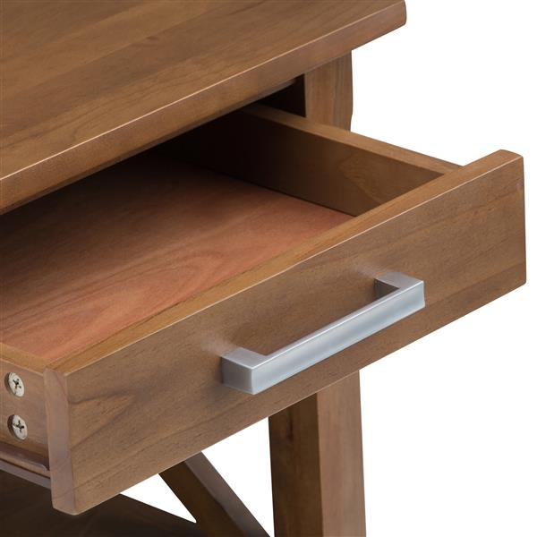 Simpli Home Kitchener 20.5-in x 20.5-in x 20-in Brown Square End Table
