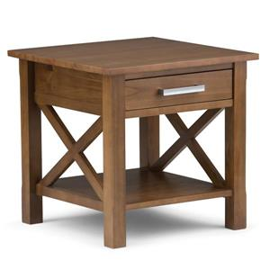 "Table d'appoint Kitchener, carré, 20,5"" x 20,5"" x 20"", brun"