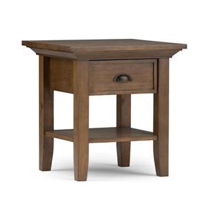 "Table d'appoint Redmond, carré, 19"" x 19"" x 20"", brun"
