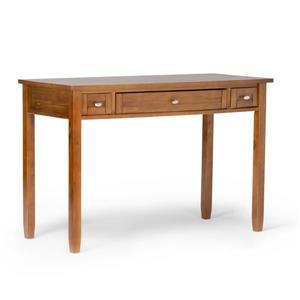 Simpli Home Warm 48-in Honey Brown Pine Shaker Desk