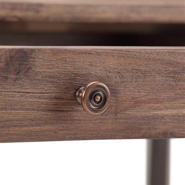Simpli Home Ralston Rustic Natural Aged Brown Asian Hardwood Desk