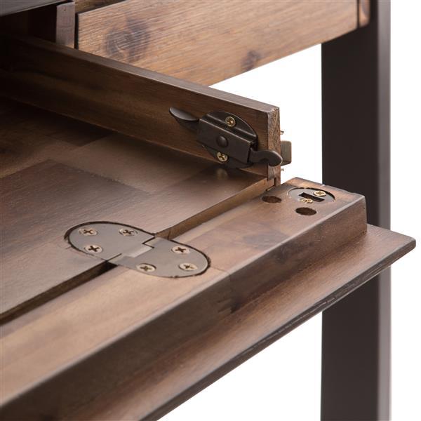 Bureau Erina, bois franc asiatique, brun rustique