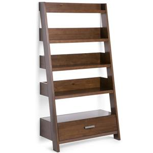 Simpli Home Deanna Medium Natural Aged Pine Ladder Shelf