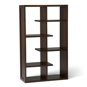 Simpli Home Camden Medium Auburn Brown Pine Bookcase