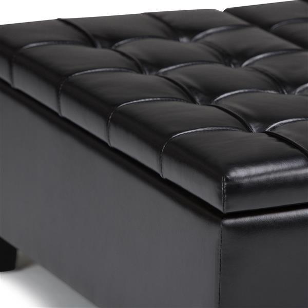 Simpli Home Harrison 36 In X 36 In X 16 5 In Black Coffee Table Storage Ottoman Axcot 265 Bl Rona