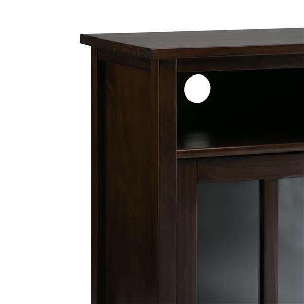 Simpli Home Warm Shaker 39-in x 16-1-in x 42.1-in Brown Storage Media Cabinet