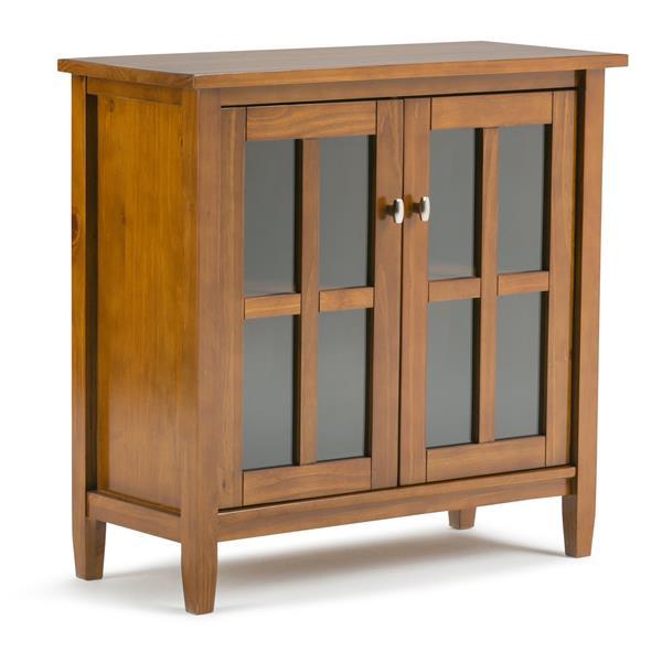 Simpli Home Warm Shaker 32-in x 14-in x 31-in Brown Low Storage Cabinet